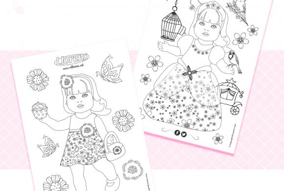 Muñecas para colorear (Descargar PDF)